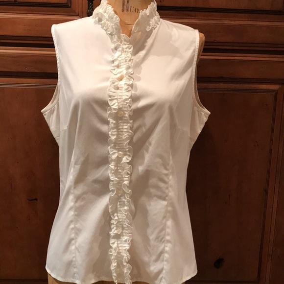 fbbfbe07 Armani Collezioni Tops - Armani Collezioni white sleeveless top size 10